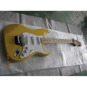 Custom Yellow Fender Stratocaster Floyd Rose Tremolo Electric Guitar