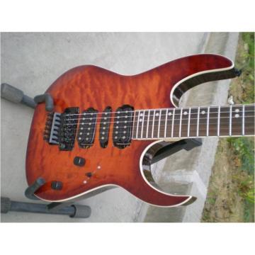 Custom Sunburst Tiger Maple Top Electric Ibanez Guitar