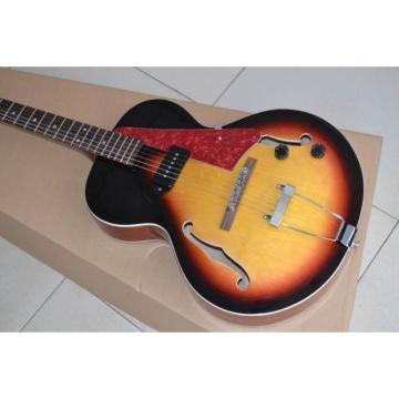 Custom Sunburst ES125 Electric Guitar With Red Pearl Pickguard
