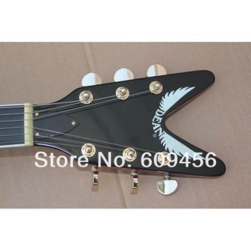 Custom Strange Flying V Sunburst Dean Electric Guitar