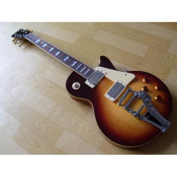 Custom Shop Tiger Maple Top Tobacco Electric Guitar Bigsby Tremolo