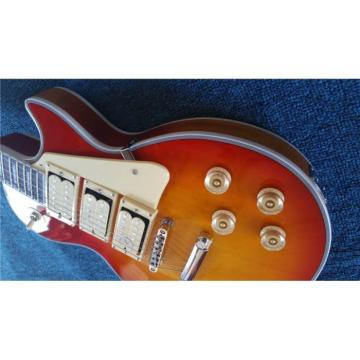 Custom Shop Sunburst Transparent Wood Grain LP 3 Pickups Electric Guitar