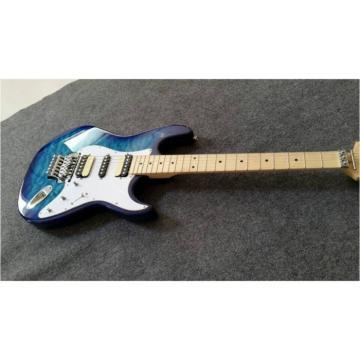 Custom Shop Stratocaster Electric Guitar Transparent Blue