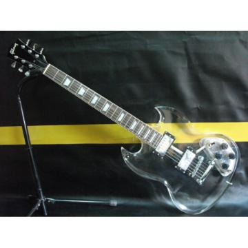 Custom Shop SG Acrylic Plexiglass Transparent Electric Guitar