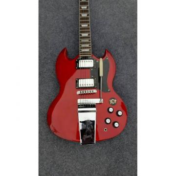 Custom Shop SG Angus Young Red Electric Guitar Maestro Vibrola