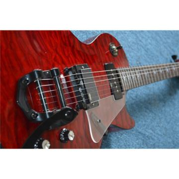 Custom Shop Red Orange Quilted Maple Top Electric Guitar Bigsby Tremolo