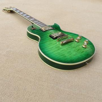 Custom Shop Quilted Maple Top Green Electric Guitar