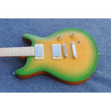 Custom Shop PRS Tiger Yellow Green Maple Top Electric Guitar