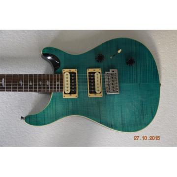 Custom Shop PRS Teal Flame Maple Top Electric Guitar