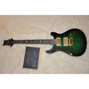 Custom Shop PRS Green Burst Flame Maple Top Electric Guitar