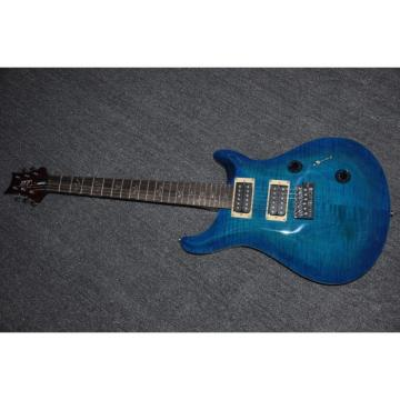 Custom Shop PRS Blue Tiger Maple Top 6 String Electric Guitar
