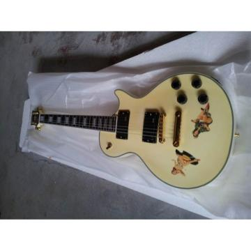 Custom Shop Playboy Cartoon Cream Electric Guitar