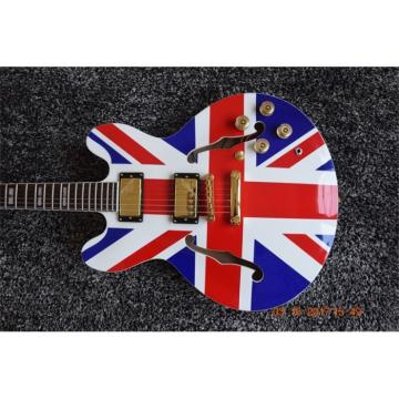 Custom Shop Noel Gallagher British Flag 6 String Electric Guitar