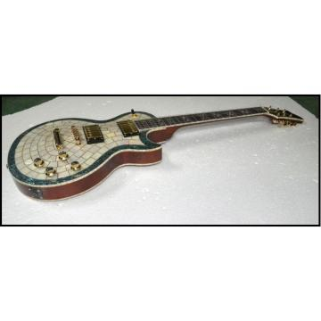 Custom Shop Mother of Pearl Abalone Top 6 String Electric Guitar MOP