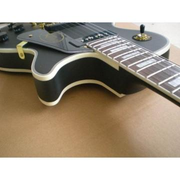 Custom Shop Matte Black Electric Guitar
