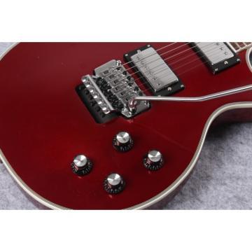 Custom Shop LP Floyd Rose Burgundy Red Wine Electric Guitar