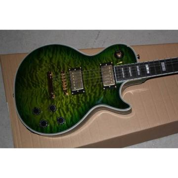 Custom Shop LP Green Quilted Maple Top Electric Guitar