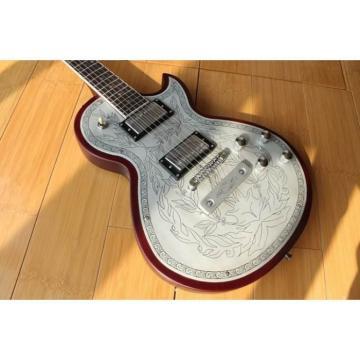 Custom Shop LP Engraved Aluminum Top Electric Guitar