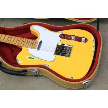 Custom Shop Jeff Beck Relic Yellow Aged Telecaster Electric Guitar