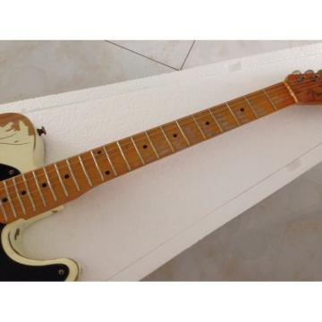 Custom Shop Jeff Beck Relic Classic White Old Aged Telecaster Electric Guitar
