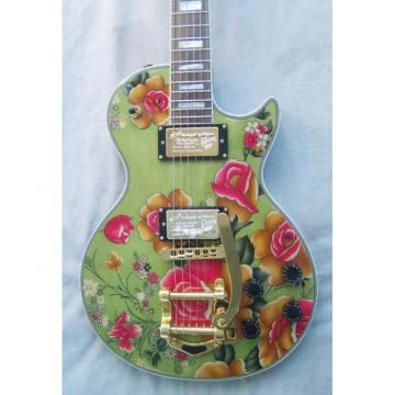 Custom Shop Flower Bigsby Tremolo Electric Guitar