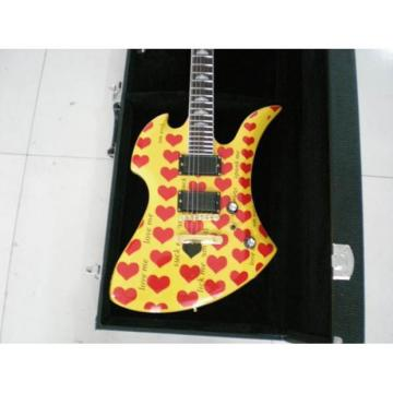 Custom Shop Fernandes Burny MG-360s Yellow Heart Electric Guitar