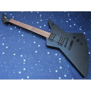 Custom Shop Explorer Matt Black LP Epi Electric Guitar