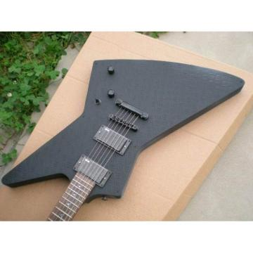 Custom Shop Explorer ESP Korina Matte Black Electric Guitar MX250