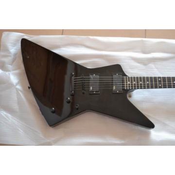 Custom Shop Explorer ESP Korina Black Electric Guitar MX250