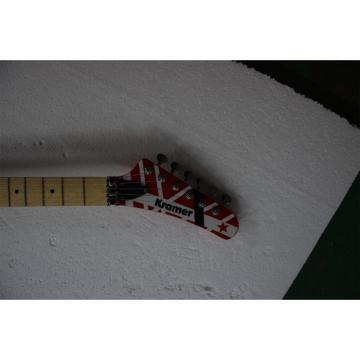Custom Shop EVH 5150 Red White Black Stripe Kramer Electric Guitar