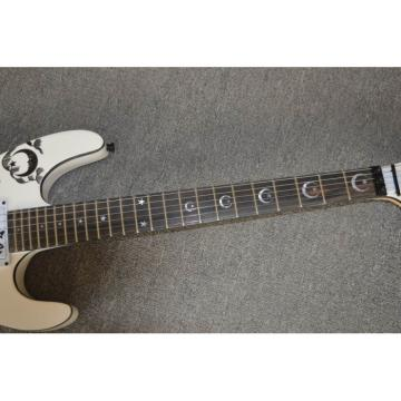 Custom Shop ESP White Kirk Hammett Ouija Electric Guitar Rosewood