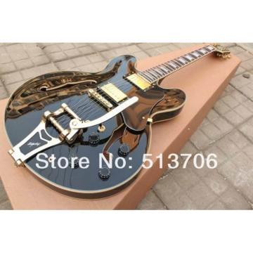 Custom Shop ES335 Black LP Electric Guitar