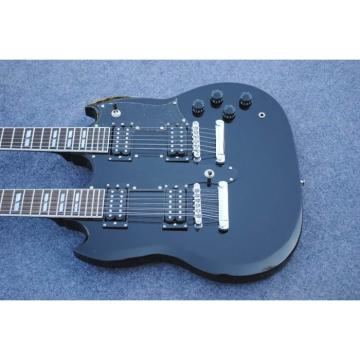 Custom Shop EDS 1275 SG Double Neck Jetglo Electric Guitar
