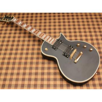 Custom Shop Eclipse ESP Matte Finish Black Electric Guitar