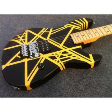Custom Shop Charvel EVH 5150 Black Yellow Stripe Electric Guitar
