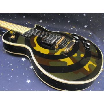 Custom Shop Camouflage Military Green Epi LP Electric Guitar