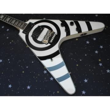 Custom Shop Buzzsaw guitarra Flying V Electric Guitar