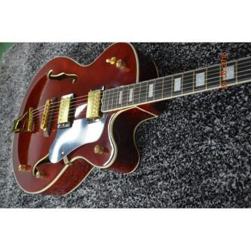 Custom Shop Burgundy L5 Electric Guitar Spring vibrato