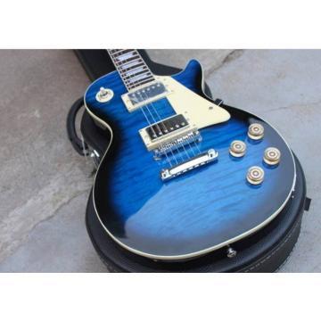 Custom Shop Blue Tiger Burst Maple Top Electric Guitar