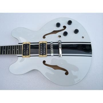 Custom Shop AVA Tom Delonge ES-333 White Electric Guitar