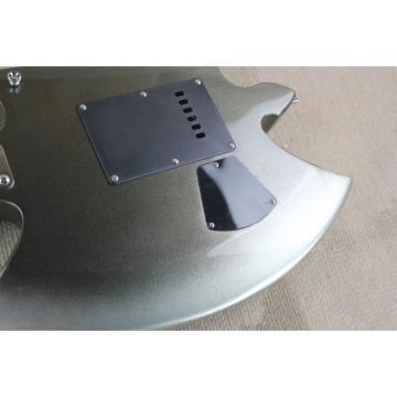 Custom Shop Axe Black Gray 6 String Electric Guitar Tremolo
