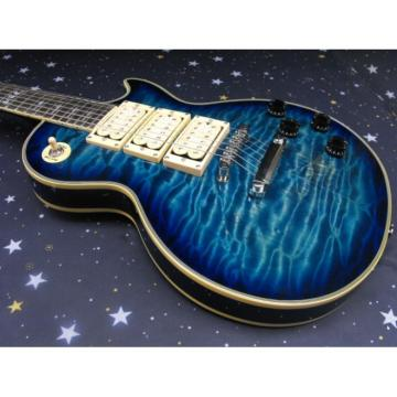 Custom Shop Ace Frehley Blue Quilted Maple LP Electric Guitar