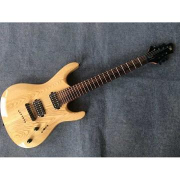 Custom Built Regius 7 String Natural Finish Mayones Guitar