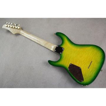 Custom Shop 3 Pickups Yellow Green Burst Pensa Electric Guitar