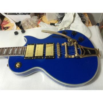 Custom Shop 3 Pickups Bigsby Blue Electric Guitar