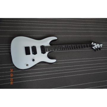 Custom Schecter Diamond MK6 White Electric Guitar 5 Ply Bindings