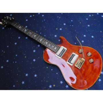 Custom PRS Santana Orange Wave Electric Guitar