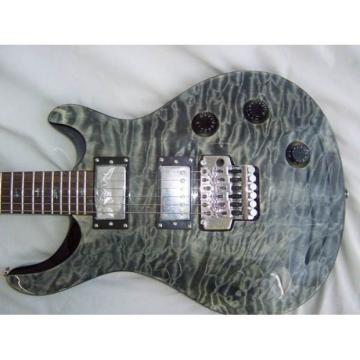Custom Quilted Gray MapleTop PRS Electric Guitar