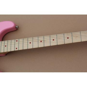 Custom Kitty Cat Fishbone Pink Electric Guitar