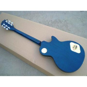 Custom Left Handed Blue Flame Maple Top Electric Guitar